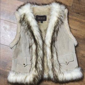 Guess Leather Fur vest